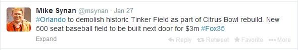 synan Tinker Field tweet