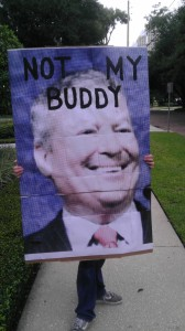 Not My Buddy protest