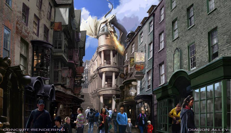 Diagon Alley and Gringotts Bank