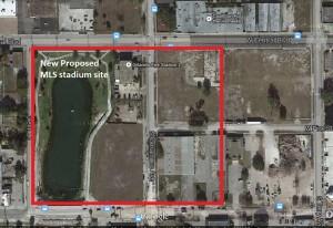 Parramore Retention Pond MLS stadium site