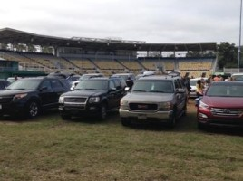 parking on Tinker Field at Citrus Bowl