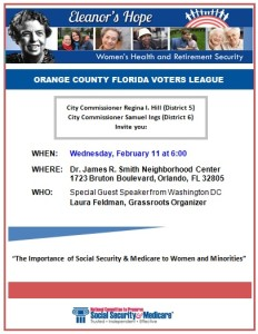 Feb 11th Social Security Medicare Smith Center event flyer