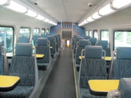 empty SunRail seats