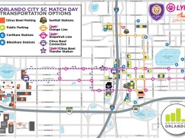 Parking and Transportation Options Map March 8
