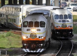 SunRail two trains