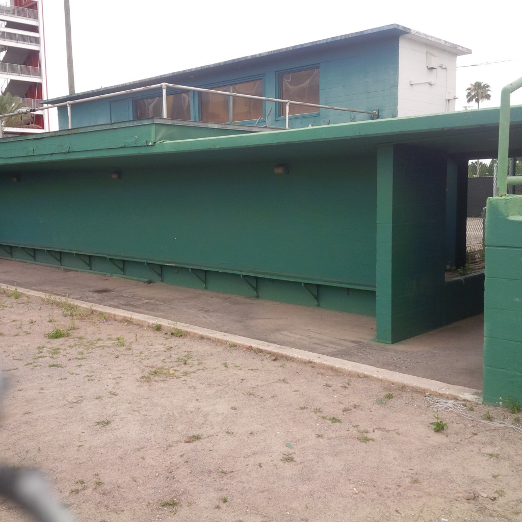 Tinker Field dugout. (photo by Mike Cantone ©)