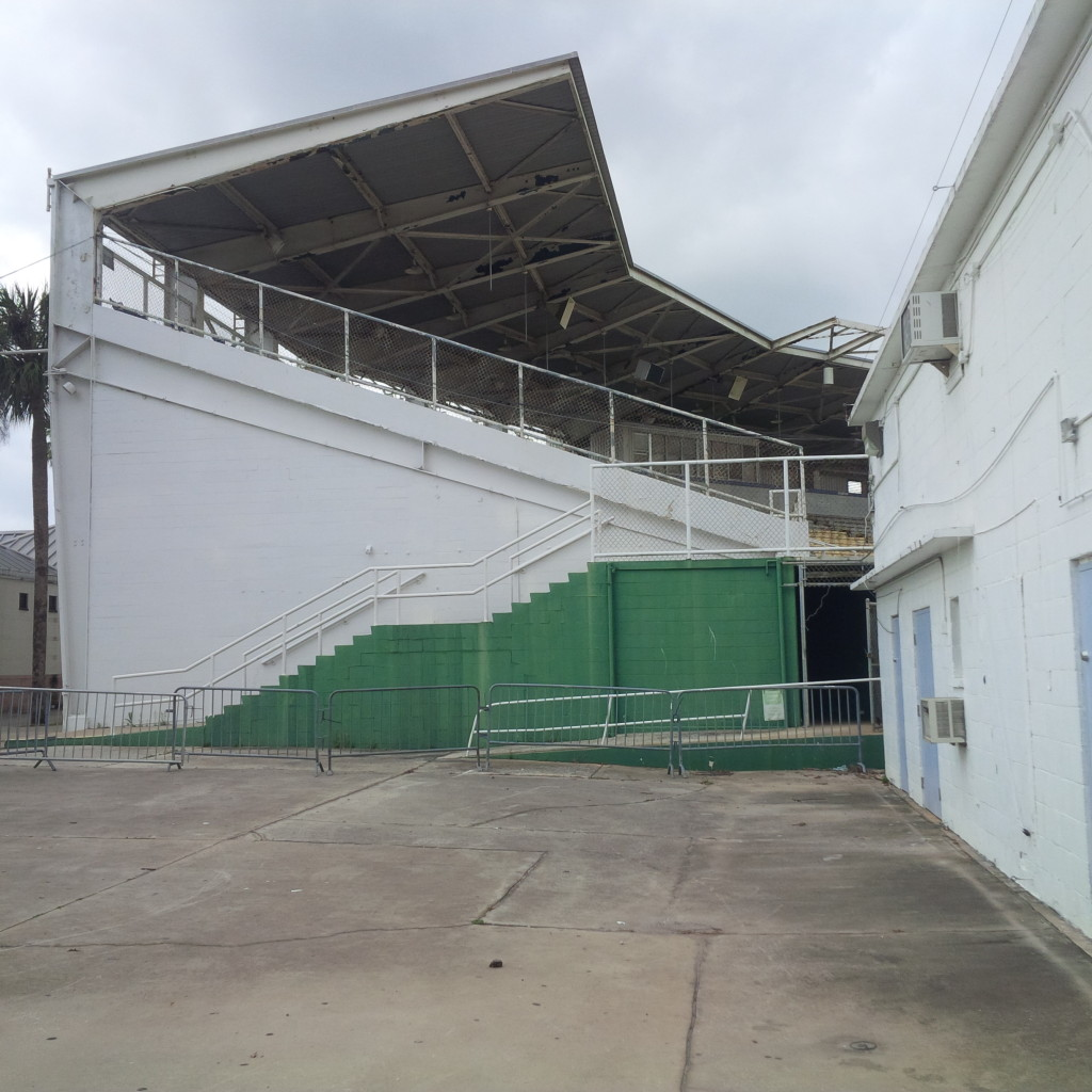 Grandstands structure, Tinker Field. (photo by Mike Cantone ©)