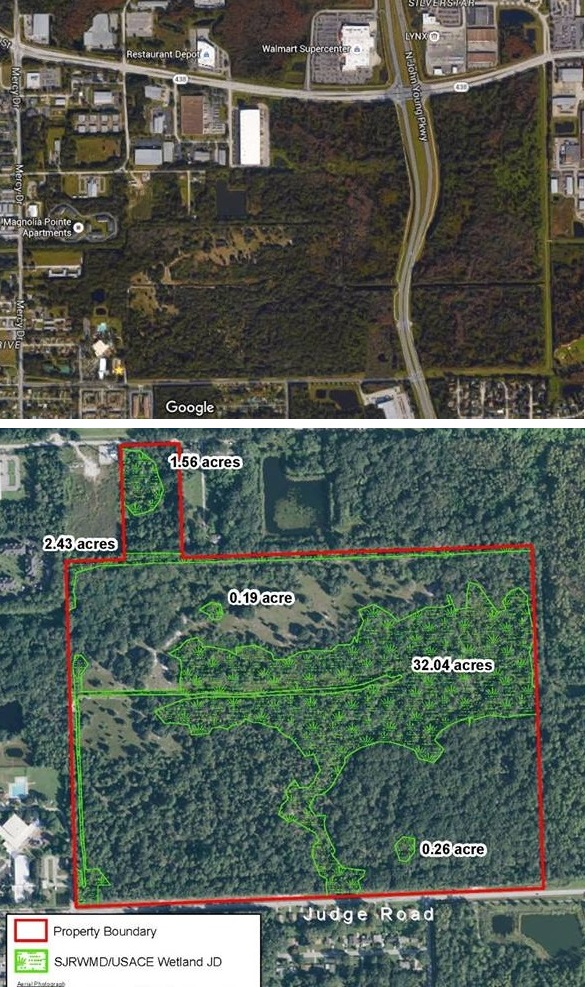 Wekiva River Basin before and after