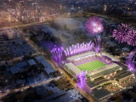 MLS Stadium Night Rendering