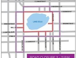 Sunday's Lake Eola Vigil Road Closures - Orlando